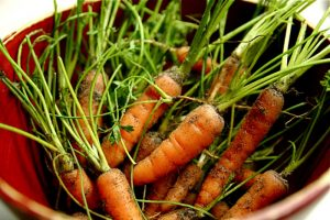 Carrot contain lots of orange antioxidants. Credit: Steven Depolo, FlickrCC